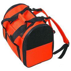 Prenosna torba za pse in mačke - oranžno-črna, 36 cm