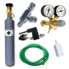 Komplet CO2 Professional 500 g z elektromagnetnim ventilom
