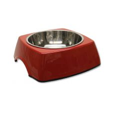 Posoda za pse DOG FANTASY, oglata - 0,70 L, rdeča