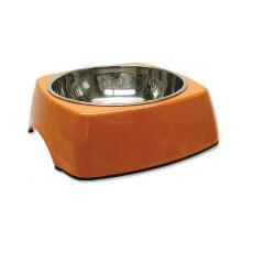 Posoda za pse DOG FANTASY, oglata - 1,40 L, oranžna