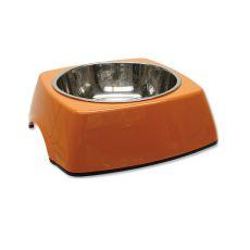 Posoda za pse DOG FANTASY, oglata - 0,70 L, oranžna