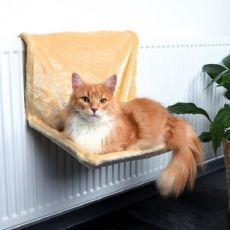 Radiatorsko ležišče za mačke, bež pliš – 48x26x30cm