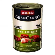 Konzerva GranCarno Fleisch Adult zajec + zelišča - 400 g