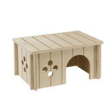Lesena hiška za glodalce – 26 x 17,3 x 13 cm
