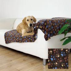 Odeja za psa LASLO - rjava s tačkami, 150 x 100 cm