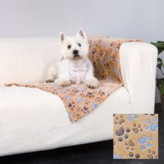 Odeja za psa LASLO - bež s tačkami, 150 x 100 cm