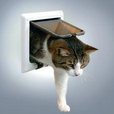 Loputa za mačke s predorom - bela, 21 x 21 cm