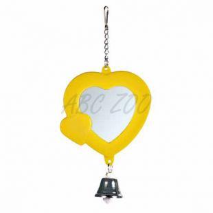 Ogledalo v obliki srca z zvončkom - 7 cm