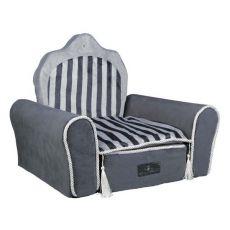 Kraljeva postelja za mačke in pse, siva - 55 x 44 x 40 cm