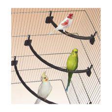 Plastična gred za ptice BELA - 1,2 x 21 cm