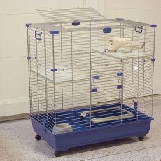 Kletka za mačke ELSA 82 C2, modra - 82x51x94cm