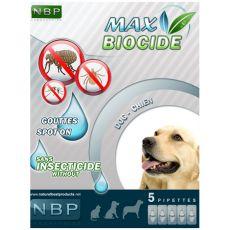 MAX BIOCIDE Antiparazitske kapljice za pse, 5 kosov